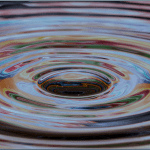 water ripples after stone dropped
